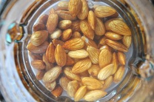 running-food-soaking-raw-almonds