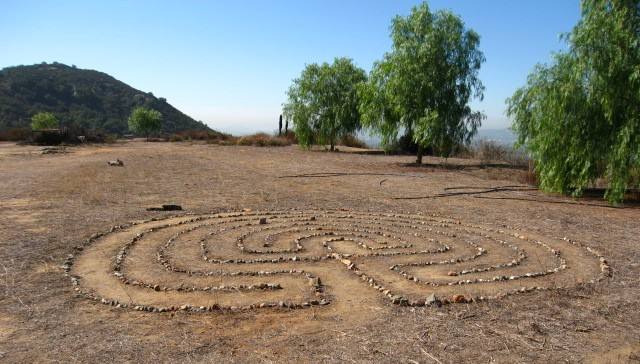 This is an example of a labyrinth that is used for walking meditations.